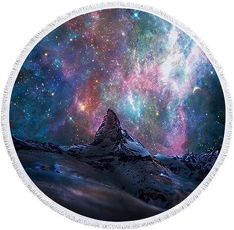 Toalla De Playa Redonda Manta Gruesa De Gran Tamaño,Universo Space ...
