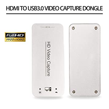 DIGITNOW! Capturadora de vídeo HDMI USB 3.0 y Dispositivo de Tarjeta HDMI Dongle Full HD 1080P Video Audio HDMI to USB Converter Converter para ...