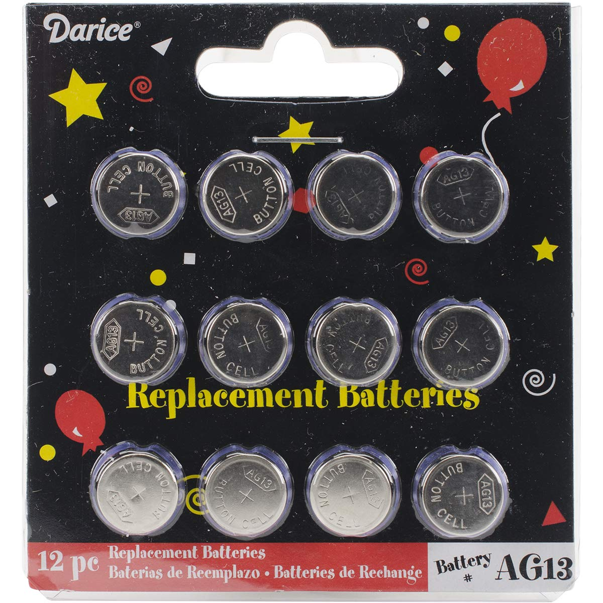 Darice Replacement Batteries for Tea Lights (12 Pack)