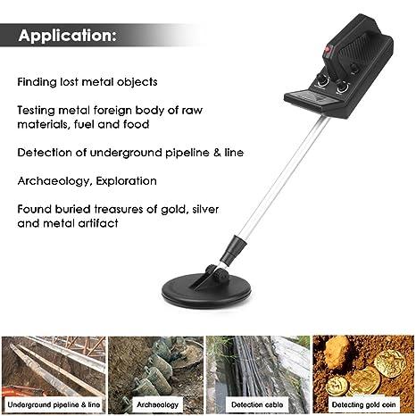 Detector de metales Subterráneo Ajustable Detectores profesionales de oro Treasure Hunter Tracker Seeker Detector de circuitos de metal Hunter Hunter Digger ...