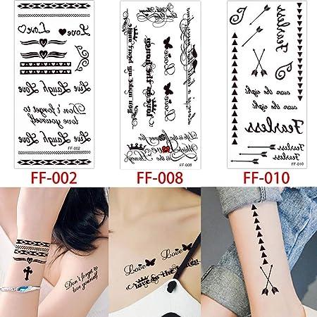 adgkitb 2 Piezas Tatuajes temporales Tatuaje Flor de Loto Dedo ...