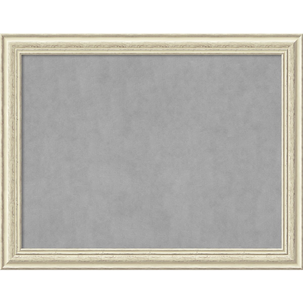 Framed Magnetic Board, Choose Your Custom Size, Country White Wash Wood by Amanti Art