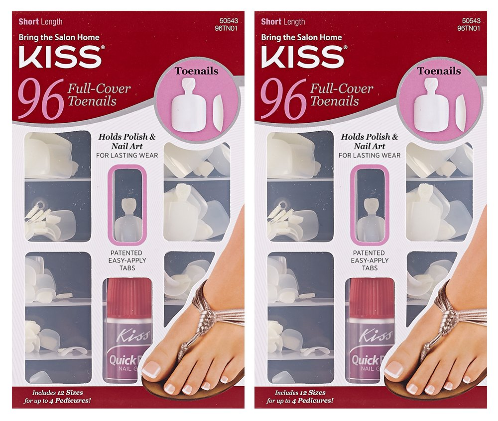 Amazon.com : **2-PACK** Kiss 96-Count TOENAILS - Full Coverage Short ...