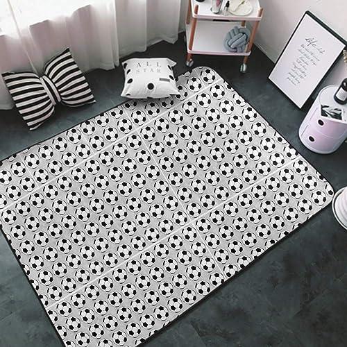 NiYoung Super Soft Indoor Modern Soccer Prints Area Rug
