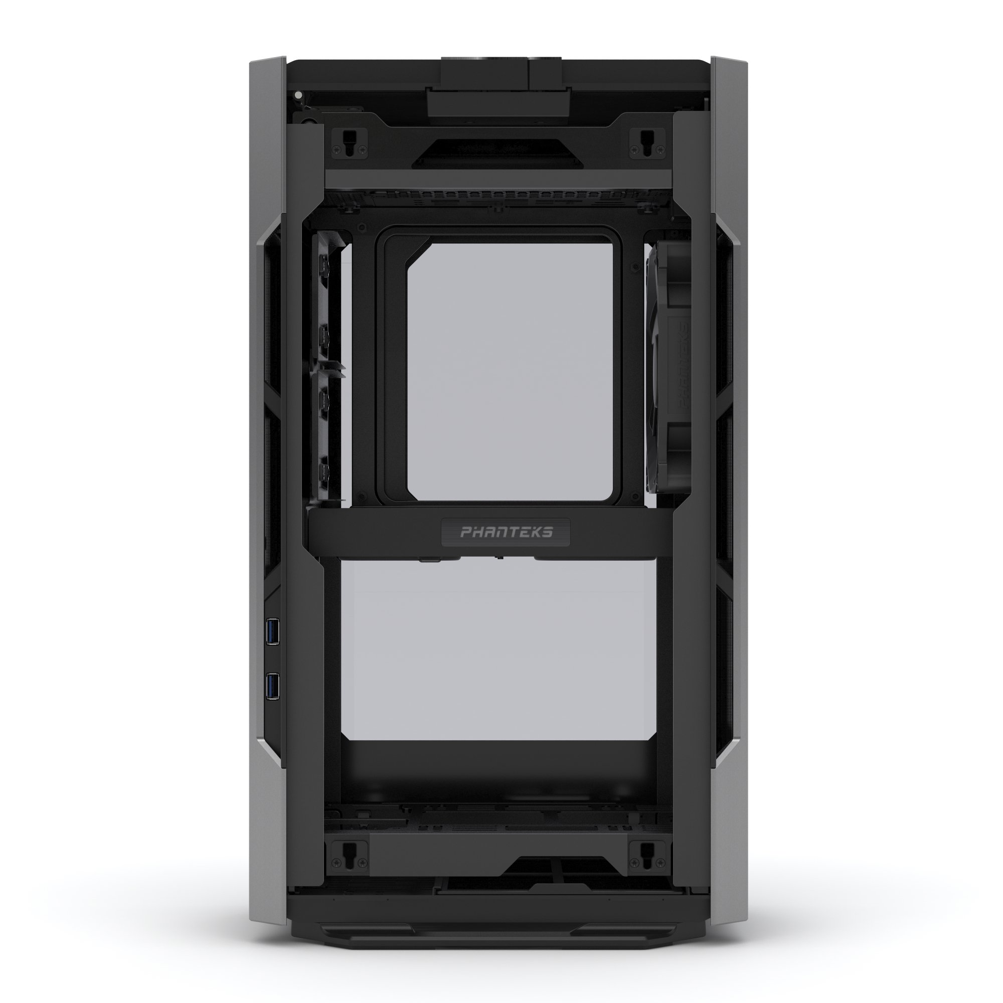 Phanteks PH-ES217E_AG EVOLV SHIFT Mini ITX Dual Tempered Glass for AIO water cooling Anthracite Gray Cases by Phanteks (Image #6)