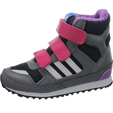 3062825591fa9 adidas ZX Winter CF I G95923 Unisex-Child Sneakers Boots   Babyboots Grey   Amazon.co.uk  Shoes   Bags
