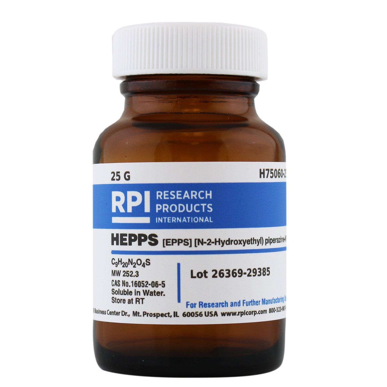 RPI HEPPS [N-(2-Hydroxyethyl) piperazine-N'-(3-Propane sulfonic Acid)] [EPPS], 25 Grams, Powder, Buffering Agent