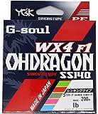 よつあみ(YGK) PEライン Gソウル オードラゴン WX4F1 200m 0.4号 7.5lb 4本 5色 SS140