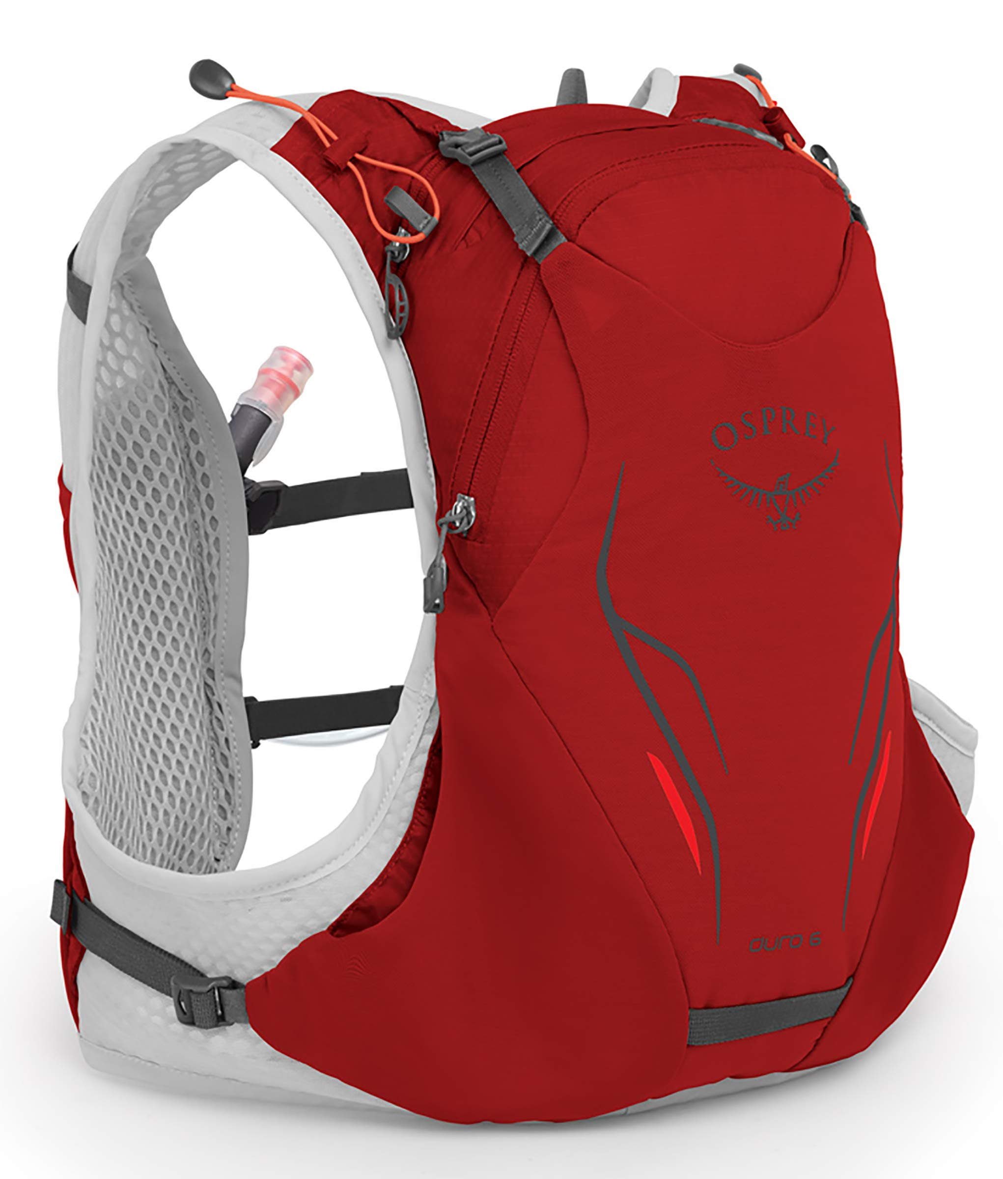 Osprey Packs Duro 6 Running Hydration Vest, Phoenix Red, Small/Medium