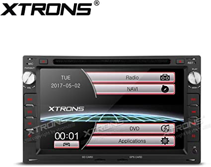 Amazon Com Xtrons 7 Hd Digital Touch Screen Dual Canbus Gps Navigator Car Dvd Player With Screen Mirroring Function Custom Fit For Volkswagen Seat Skoda Map Card Included Car Electronics