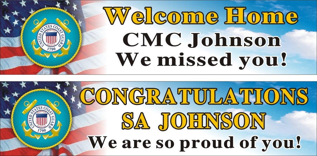 personalized welcome home banner