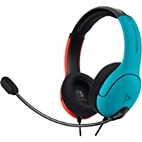 PDP Nintendo Switch LVL40 Wired Stereo Headset Joycon Blue/Red, 500-162-NA-BLRD - Nintendo Switch