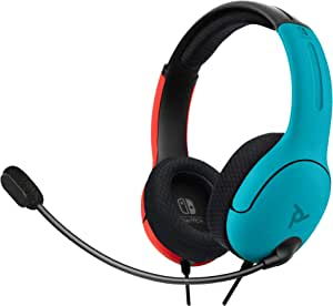 Headset Gamer Stereo Com Fio PDP LVL40 500-162-NA-BLRD Azul/Vermelho - Nintendo Switch