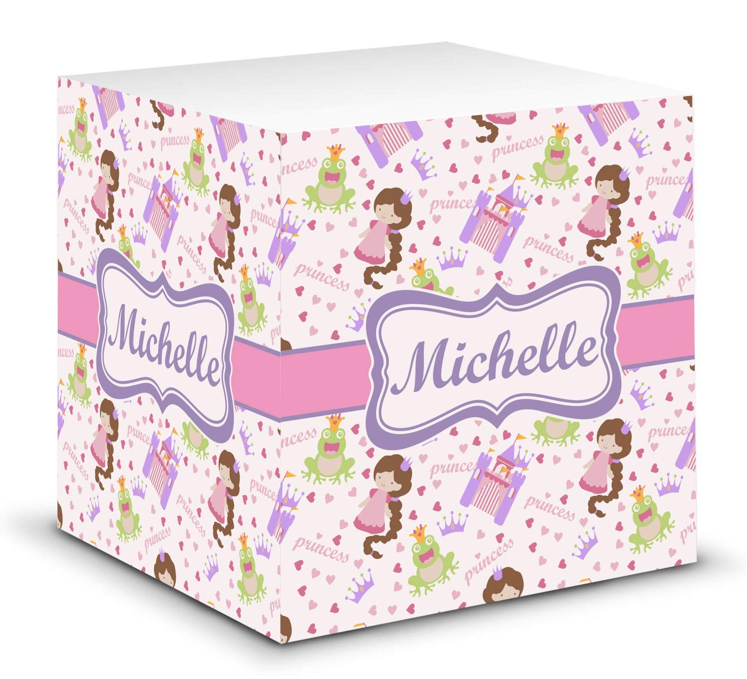 Princess Print Sticky Note Cube (Personalized) by YouCustomizeIt