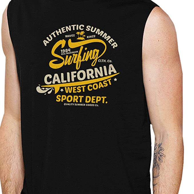 926d6e37ce5 Amazon.com  365 Printing Muscle Shirts For Men Lightweight Cotton Summer  Graphic Tank Top  Clothing