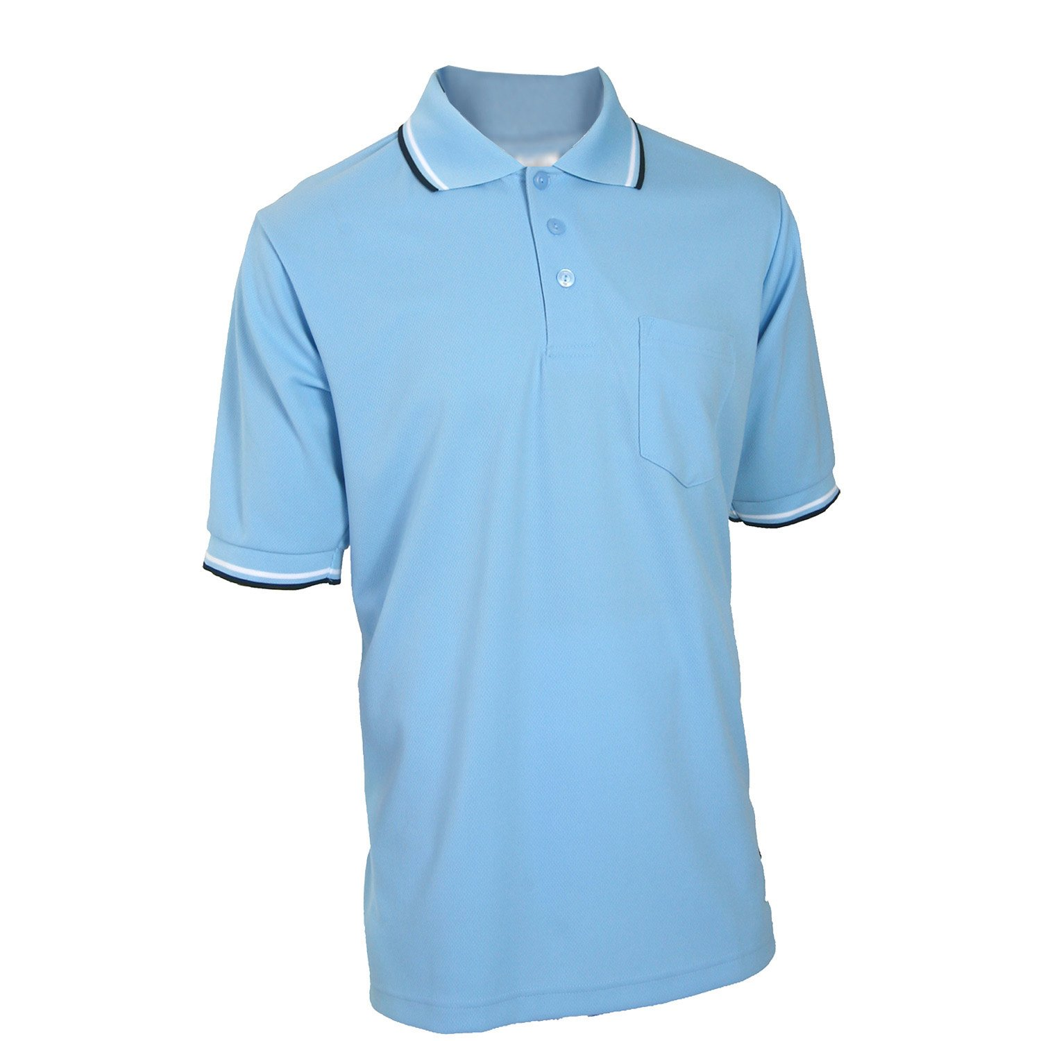 Adams USA Smitty Major League Style Short Sleeve Umpire Shirt with Front Chest Pocket (Powder Blue, 4X-Large)