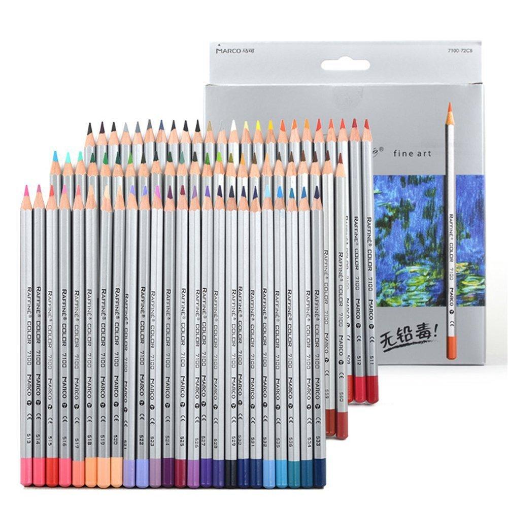 72 adulti Libri da colorare Matite BabyIn Colured per Dipinti bambini Secret Garden Art Aupplies Disegno Artigianato Carta Boxed