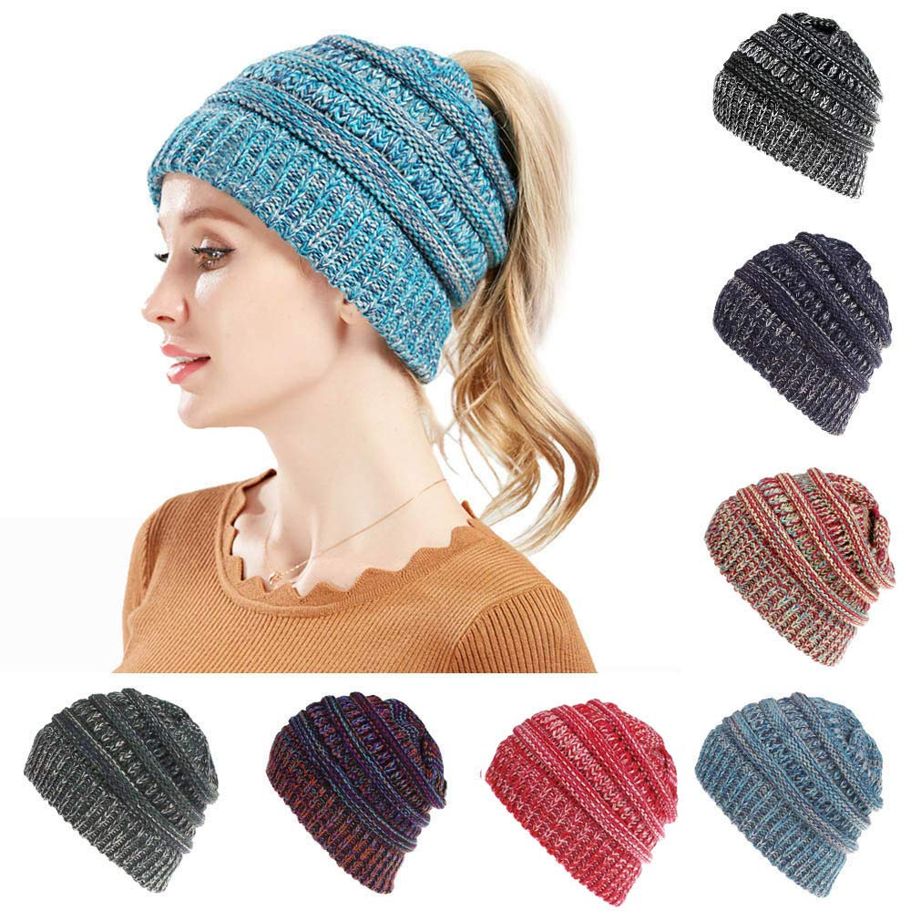 Lurryly❤Family Matching Hat Cap Baby Kids Boys Girls Color Mixture Knited Woolen Headgear
