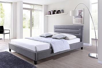 baxton studio hillary fabric upholstered platform bed king grey - Upholstered Platform Bed Frame