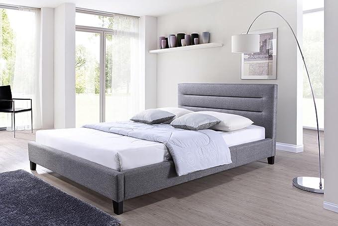 Amazon.com: baxton studio Hillary plataforma cama tapizado ...