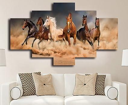 6bc56c652a1 Amazon.com  Live Art Decor-Large Size Running Horse Canvas Wall Art ...