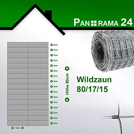 Wildzaun 80//17//15 Wildzaun Forstzaun Drahtzaun Weidezaun Knotengeflecht Zaun 15 Gr/ö/ßen