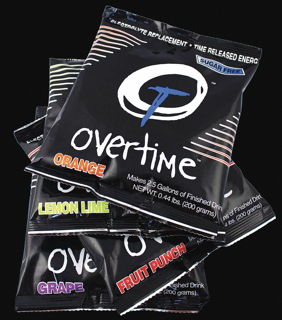Electrolyte Drink Mix, Powder Concentrate, Sugar Free, 35 Package Quantity by overtime (Image #1)
