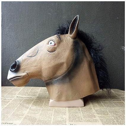 Máscara YN Bojack Horseman Peluca Anime Personaje de rol Divertido espectáculo de Cine Complementos