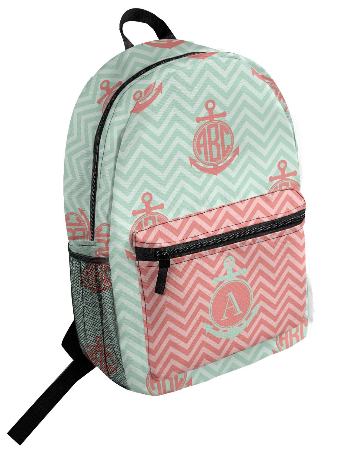 Chevron /& Anchor Student Backpack Personalized