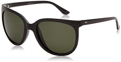 Sunoptic - Gafas de sol para mujer, color black (black/green lens), talla talla única