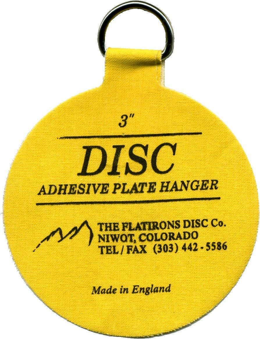 Flatirons Disc - Invisible English Disc - Adhesive Plate Hanger, 3 inch (Pack of 48)
