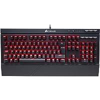 Corsair K68 - Teclado mecánico Gaming (retroiluminación LED rojo, resistente al polvo y a las salpicaduras), Rojo (Cherry MX Red) - [QWERTY español]
