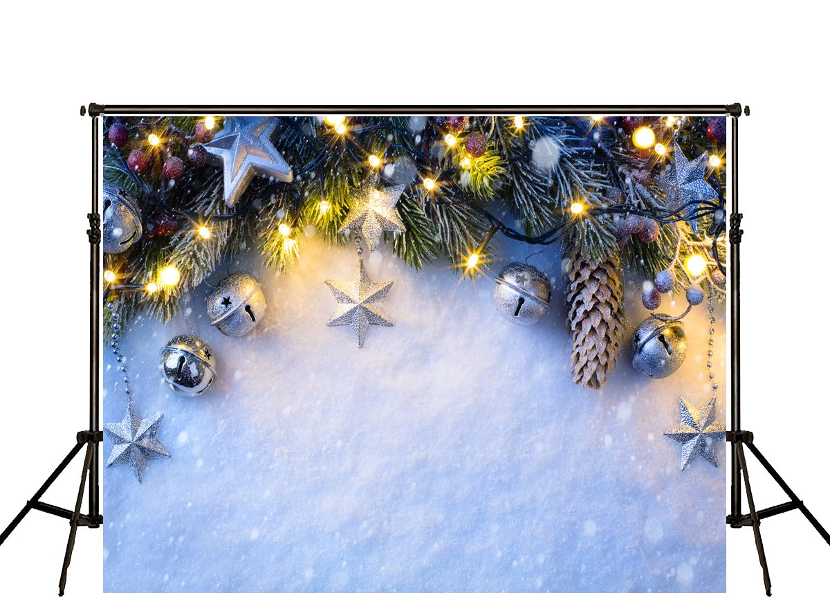 ケイトホワイト雪写真の背景幕背景明るいクリスマスツリーfor Children Photo Studio Withoutしわ 10x6.5ft weiweiHJ02293-Hangyu2 10x6.5ft  B076ZQ425X