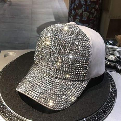 xiaochicun Sombrero Mujer Gorra Mujer Diamante Brillante Verano ...