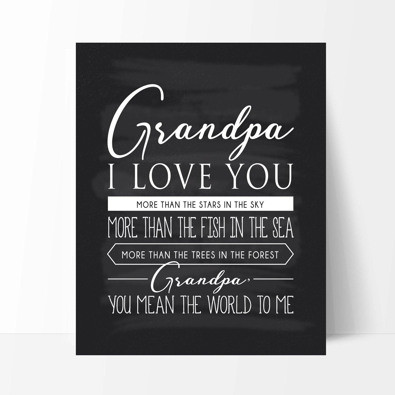 Amazon.com: Grandpa Gift, Grandpa Quote Sign Chalkboard Print ...