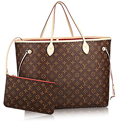 7689fc8ca1ea Authentic Louis Vuitton Neverfull GM Monogram Canvas Cherry Handbag  Article M41179  Handbags  Amazon.com