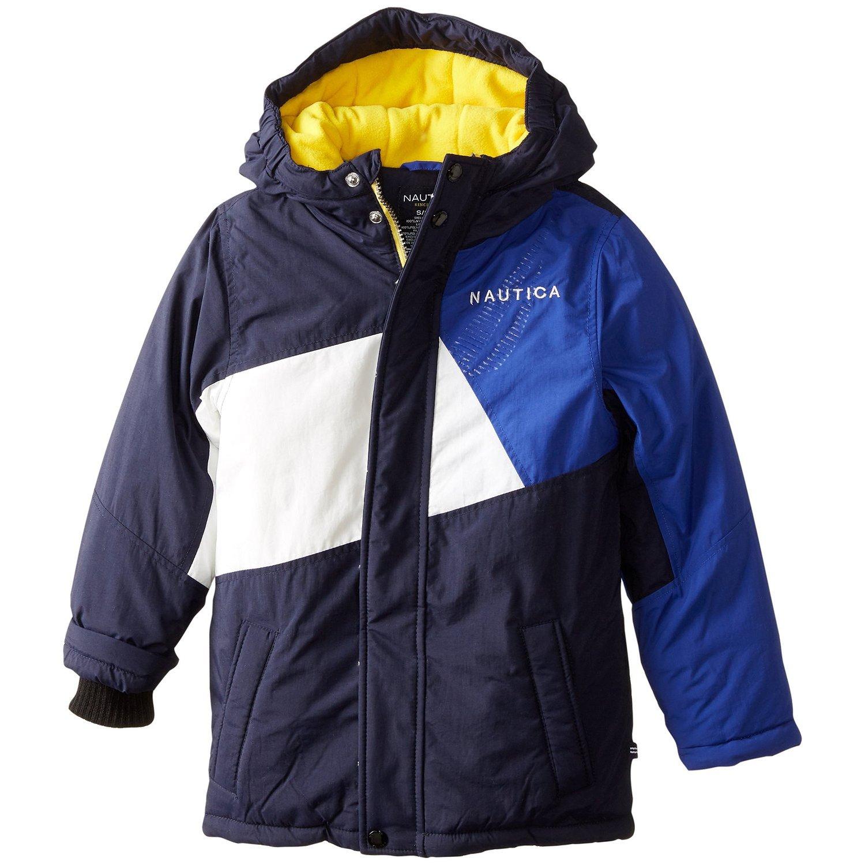 Nautica Little Boys' Colorblocked Snorkel Coat, Sport Navy, Small