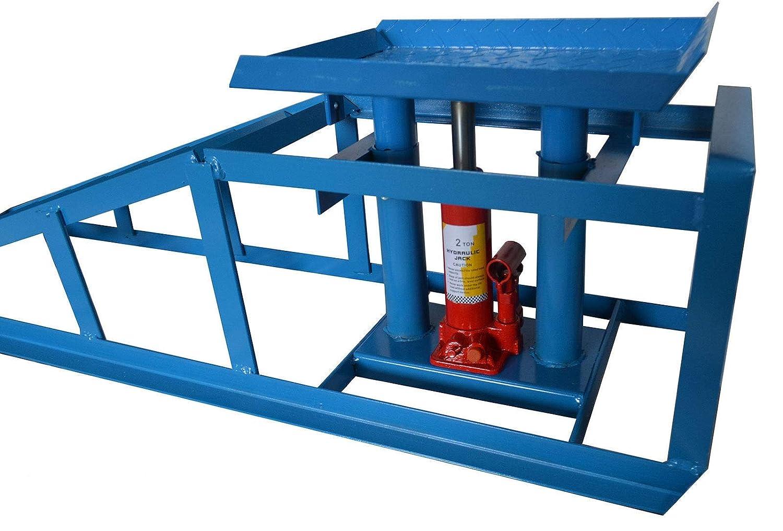 2 Pezzi RED STAR Rampe idrauliche Resistenti per Auto per Garage e furgoni 1.200 kg