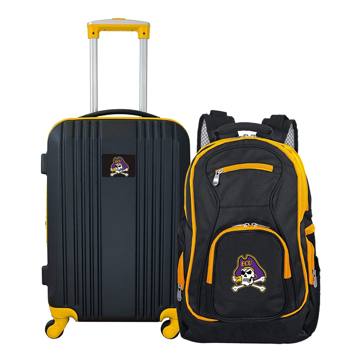 NCAA East Carolina Pirates 2-Piece Luggage Set