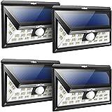 Litom Solar Lights Outdoor, Wireless 24 LED Motion Sensor Solar Lights with Wide Lighting Area, Easy Install Waterproof Security Lights for Front Door, Back Yard, Driveway, Garage (4 Pack)