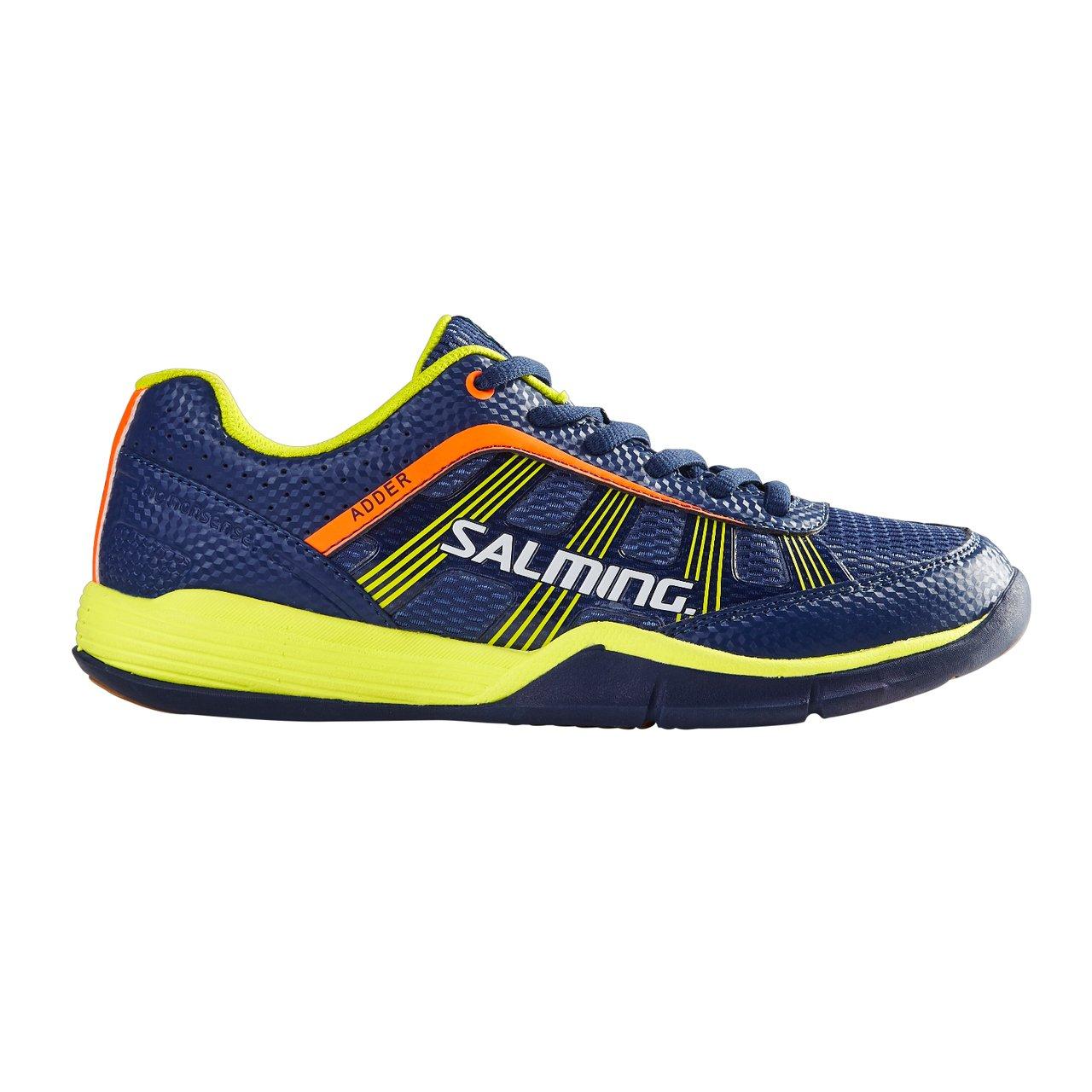 Salming Adder Junior Indoor Court Shoe Blue/Yellow (7)