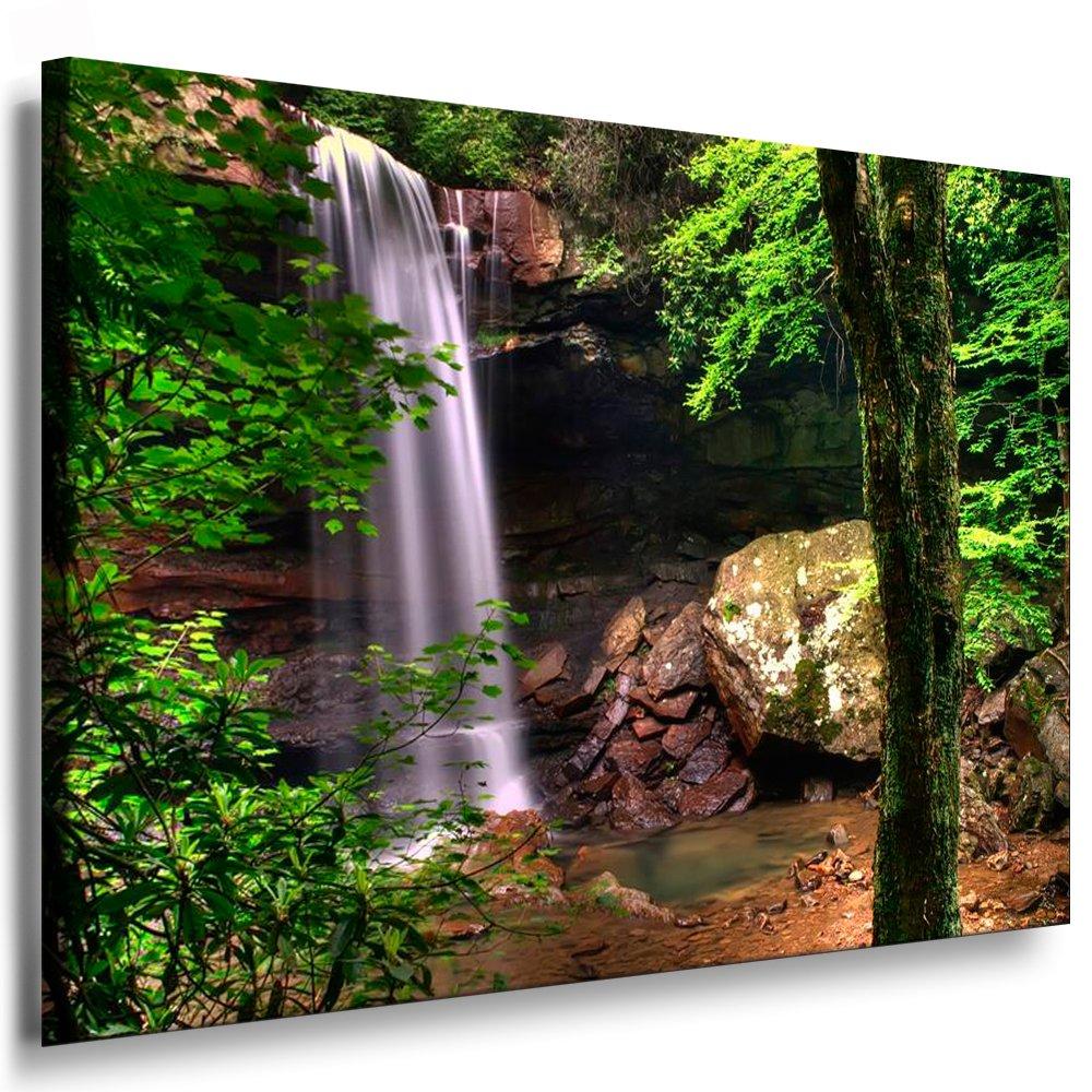 Bilder Kunstdrucke   Boikal   Leinwandbild, Bild mit Keilrahmen Wasserfall Wald, Landschaften   Natur 120x80 cm xxl.236