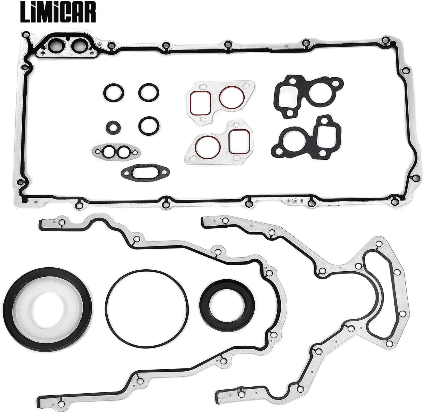 LIMICAR Engine Conversion Lower Gasket Set CS5975A CS9284 Compatible with 1997-2011 GMC Fits Ford Isuzu Saab 5.7L 6.0L 6.2L OHV LS3 VIN H M