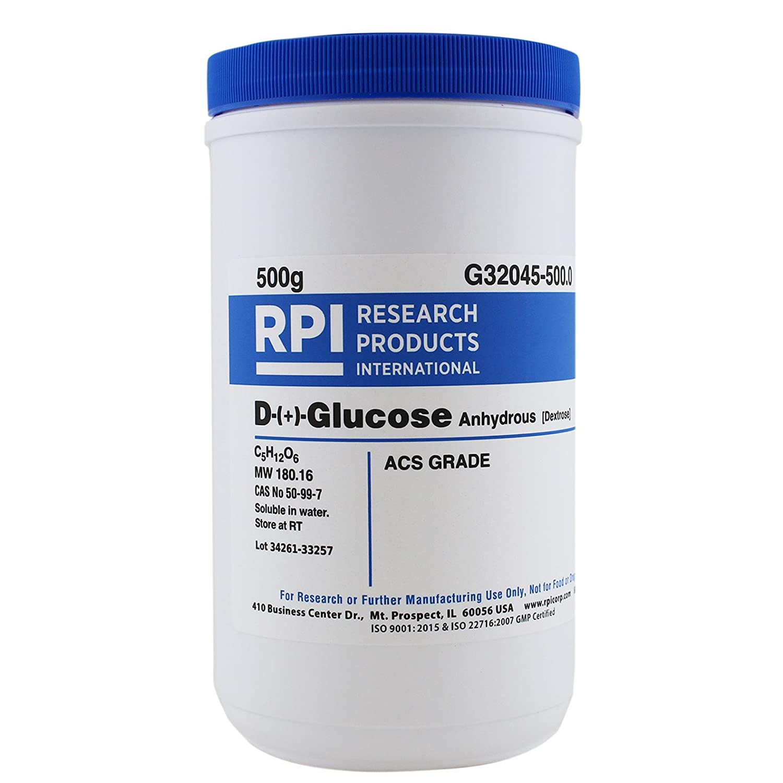 D-( )-Glucose [Dextrose Anhydrous], ACS Grade, 500 Grams