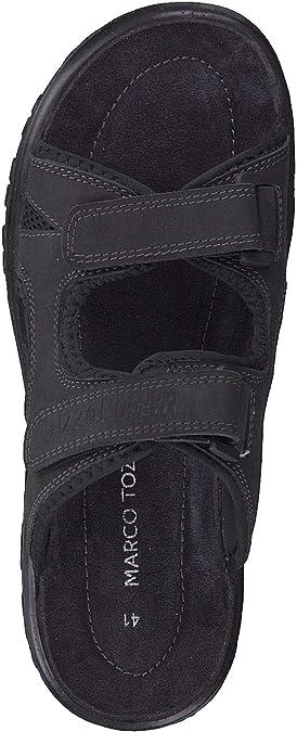 Marco Tozzi Homme Sandales Mules 17400 Velcro Gris Grey