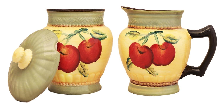Apple Harvest ceramic Sugar and creamer set TICO 85332
