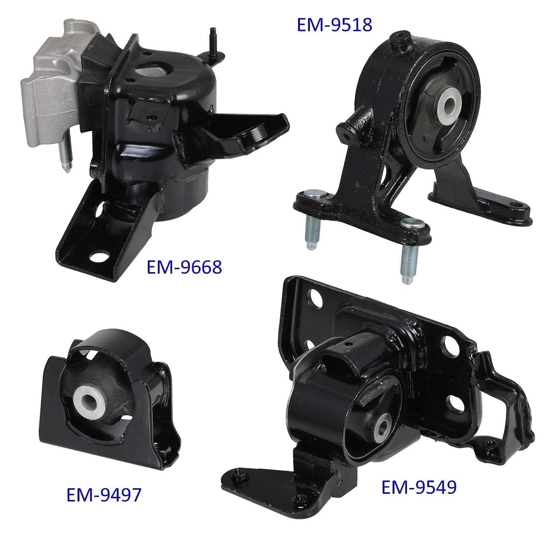 2006 2007 2008 Engine Mounts Precision European Motorwerks 4pc Motor Mounts Set Kit for 06-08 Toyota Rav4 Rav 4-2.4L 4-Cylinder 4WD AWD Auto Automatic Transmission