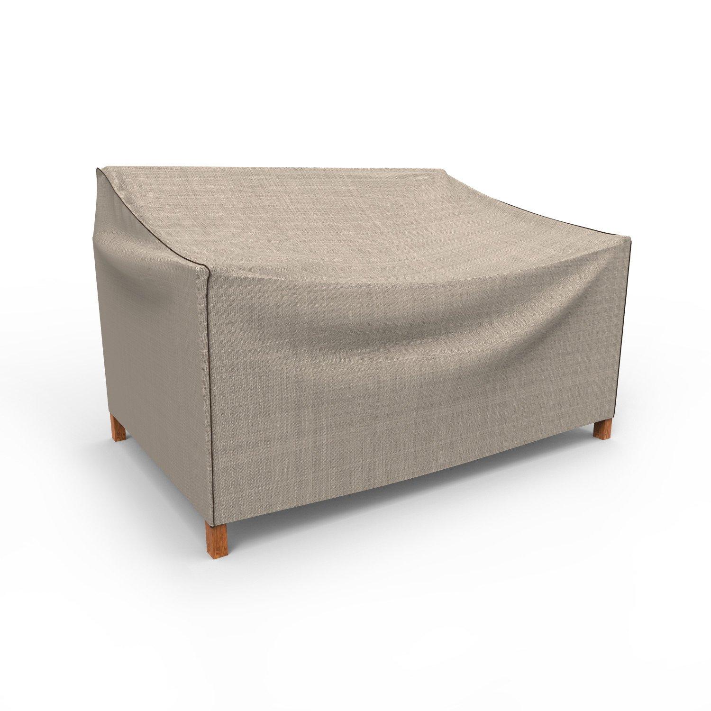 Budge English Garden Outdoor Patio Sofa Cover, Small (Tan Tweed)