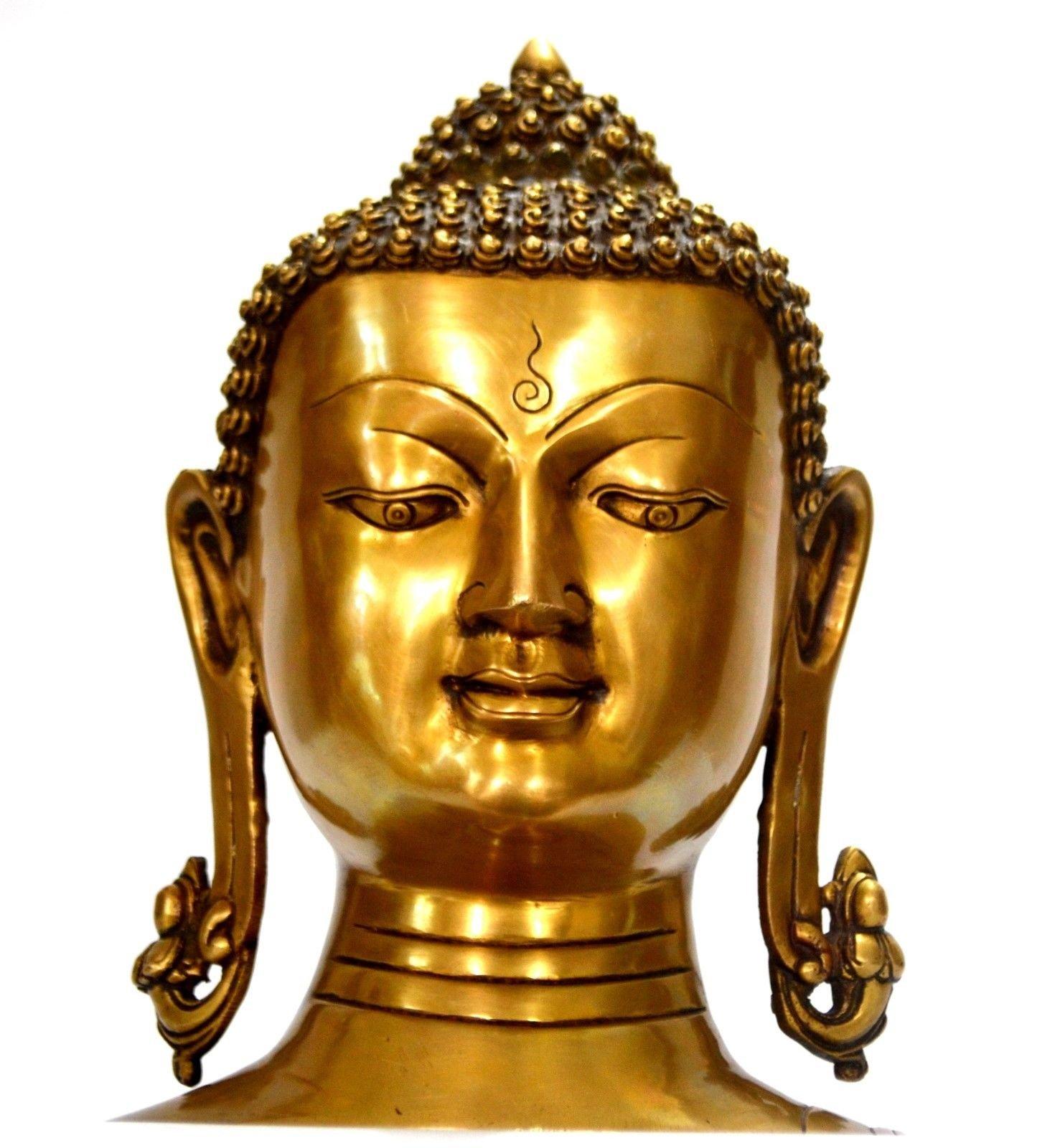 CraftVatika Large Buddha Head Statue, 11 Inch Height by CraftVatika