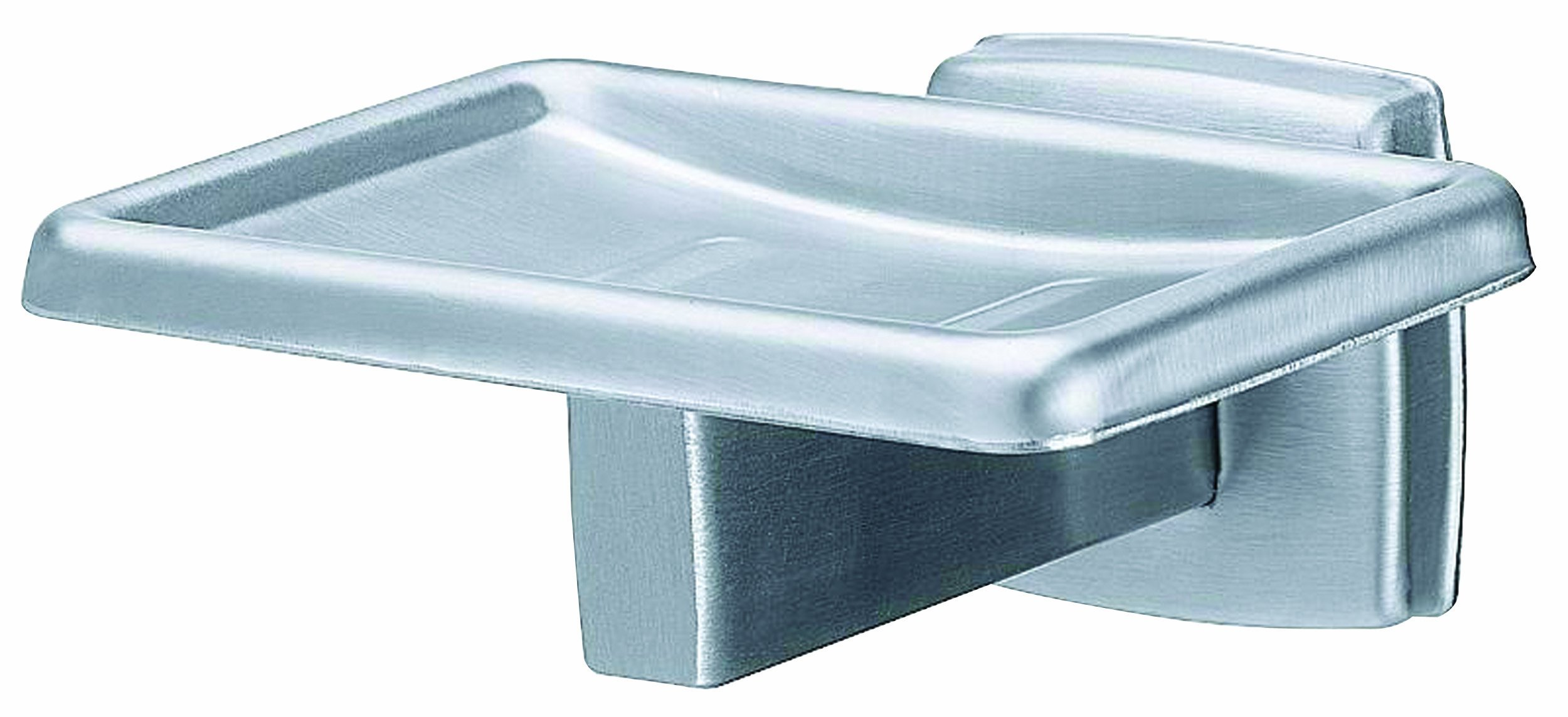 Bradley 9014-0000US Satin Stainless Steel Surface Mount Soap Dish, 2'' Width x 2'' Height